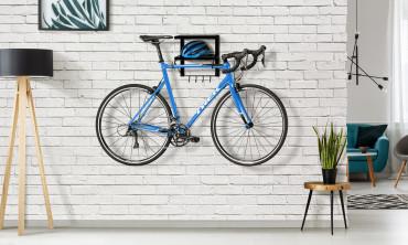Porte vélo mural avec étagères