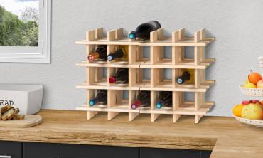 Casier a bouteilles en bois - lot de 2