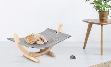 Hamac pour chat gris