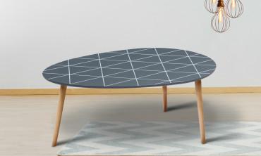 Table basse à motifs