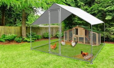 Enclos à poules en métal...
