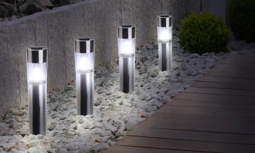 Lampe borne Tube solaire -...