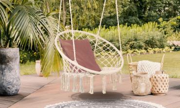Hamac chaise macramé