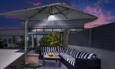 Kit LED solaire pour parasol 360°