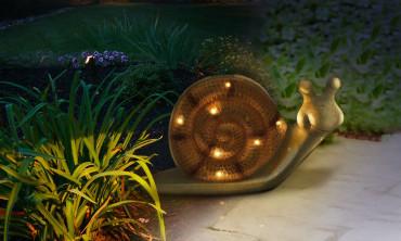 Escargot solaire lampe...
