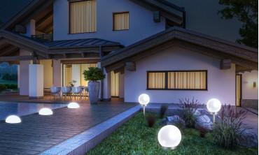 Lampe boule solaire 20cm