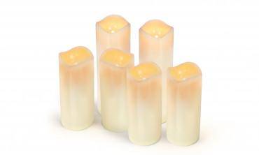 Bougies à piles - lot de 6