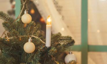 Bougies de Noël lumineuses à pinces pour sapin