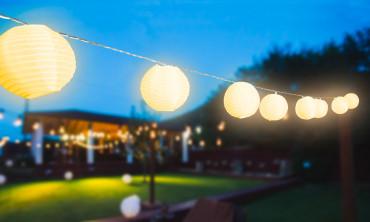 Guirlande solaire lampions