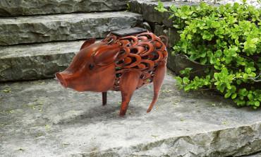 Cochon décoratif solaire