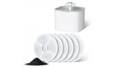 Filtres à charbon pour fontaine à eau - lot de 6