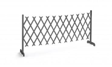 Barrière extensible grise