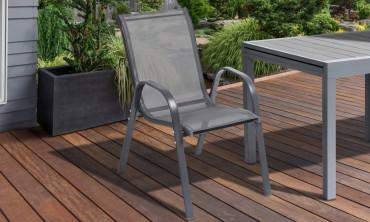Chaise de jardin - gris anthracite