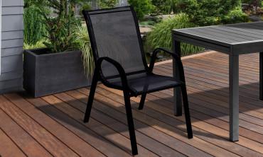 Chaise de jardin - noire