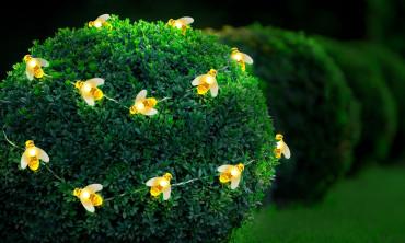Guirlande solaire jardin - Abeilles
