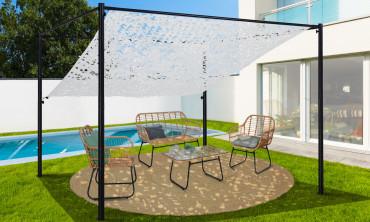 Ombrière pour pergola toit orientable - blanche