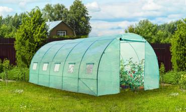 Serre de jardin 3 x 6 m - 5 fenêtres - 140gr/m²