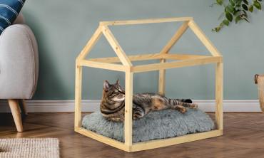 Lit cabane pour chat avec...