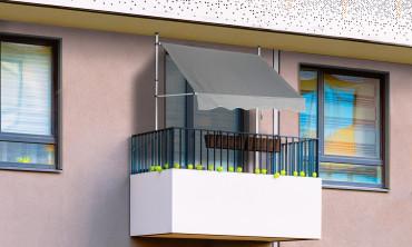 Store banne balcon 200 x 120cm gris