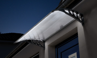 Marquise avec LED solaire